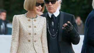 Fashion power: Anna Wintour y Karl Lagerfeld.