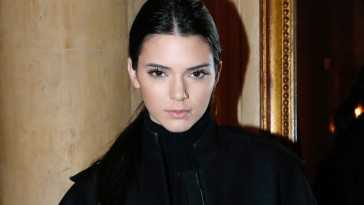 PARIS, FRANCE - MARCH 01:  Model Kendall Jenner attending the Cocktail Dinatoire of German VOGUE in honor of Mario Testino at Restaurant 1728 on March 1, 2014 in Paris, France.  (Photo by Bertrand Rindoff Petroff/Getty Images)