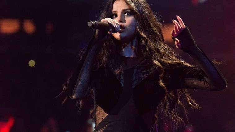 Selena Gomez performs at Z100's iHeartRadio Jingle Ball 2015, presented by Capital One, at Madison Square Garden on Friday, Dec. 11, 2015, in New York. (Photo by Charles Sykes/Invision/AP)