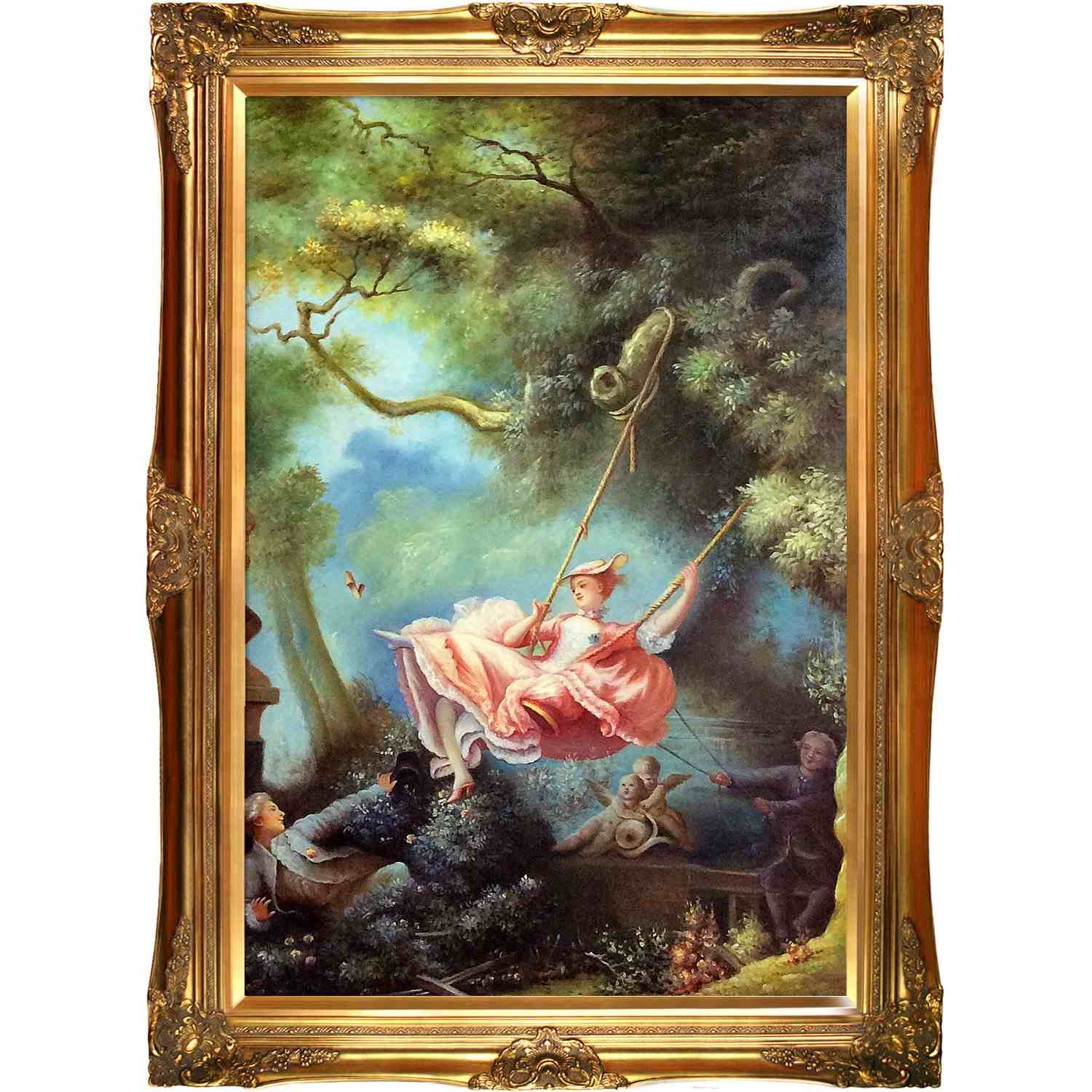 Overstock-Art-The-Swing-c.1765-by-Jean-Honore-Fragonard-Framed-Original-Painting-on-Canvas