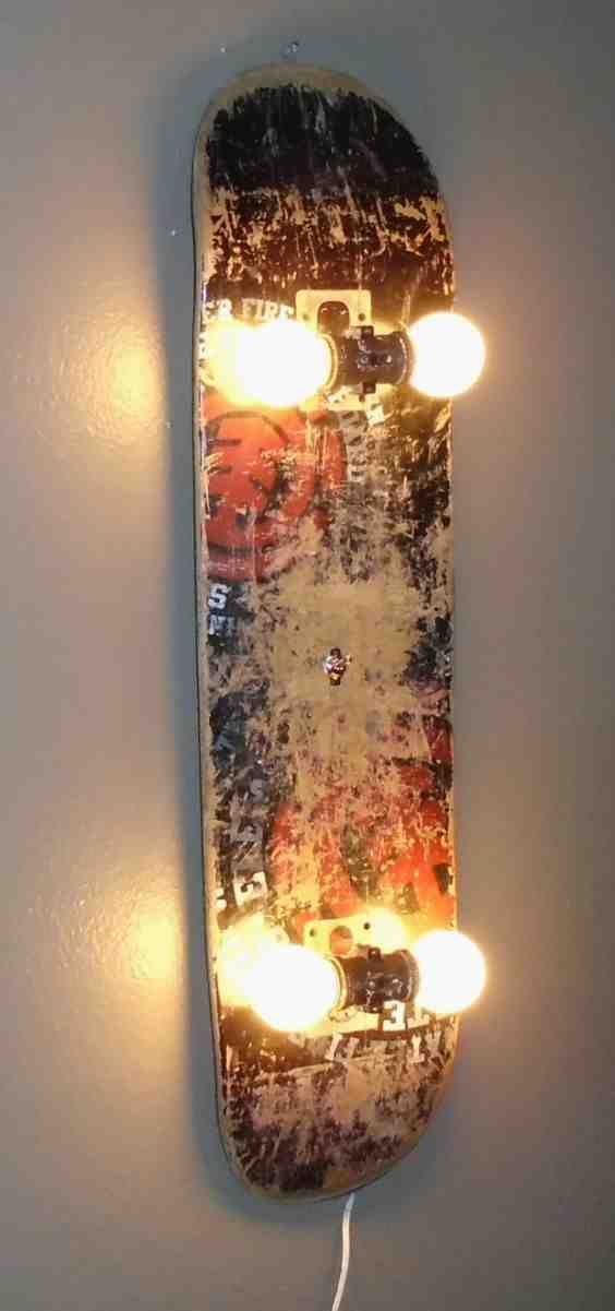 skateboard upcycle